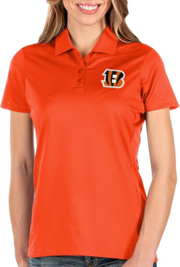 Antigua Women's Cincinnati Bengals Balance Orange Polo product image