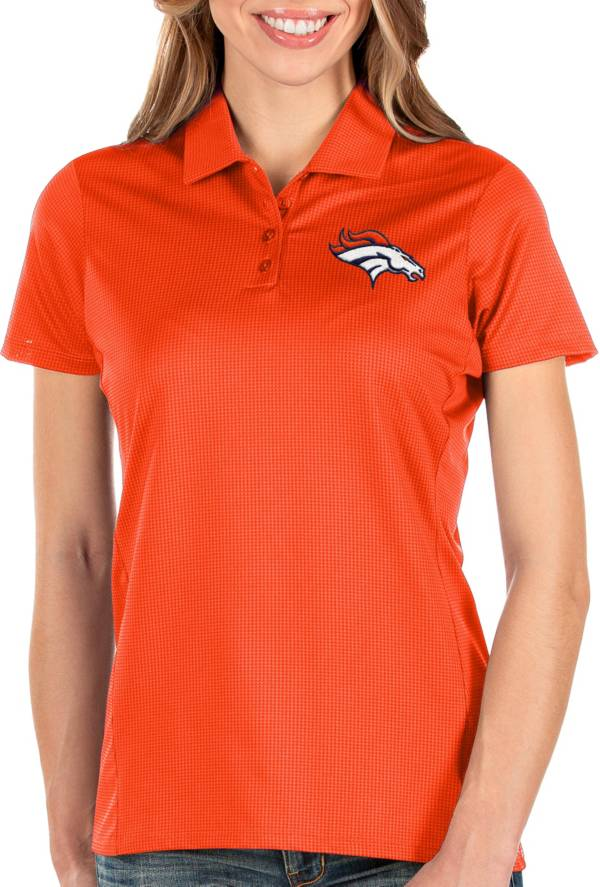 Antigua Women's Denver Broncos Balance Orange Polo product image