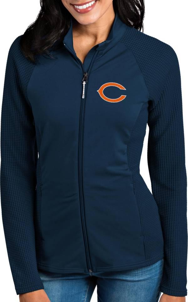 Antigua Women's Chicago Bears Sonar Navy Full-Zip Jacket product image