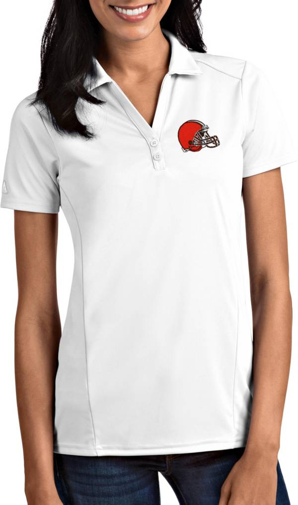 Antigua Women's Cleveland Browns Tribute White Polo product image