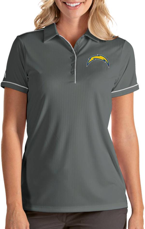 Antigua Women's Los Angeles Chargers Salute Grey Polo product image