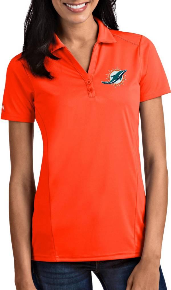 Antigua Women's Miami Dolphins Tribute Orange Polo product image
