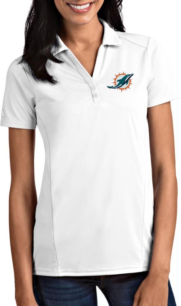 Antigua Women's Miami Dolphins Tribute White Polo product image