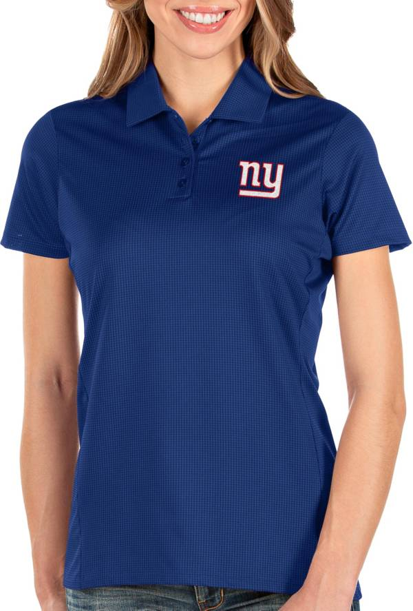 Antigua Women's New York Giants Balance Royal Polo product image