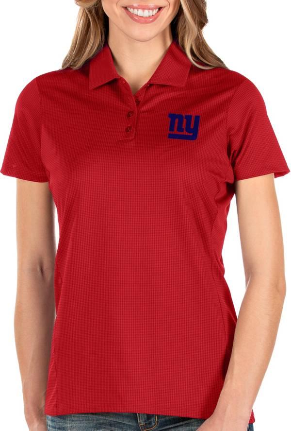 Antigua Women's New York Giants Balance Red Polo product image