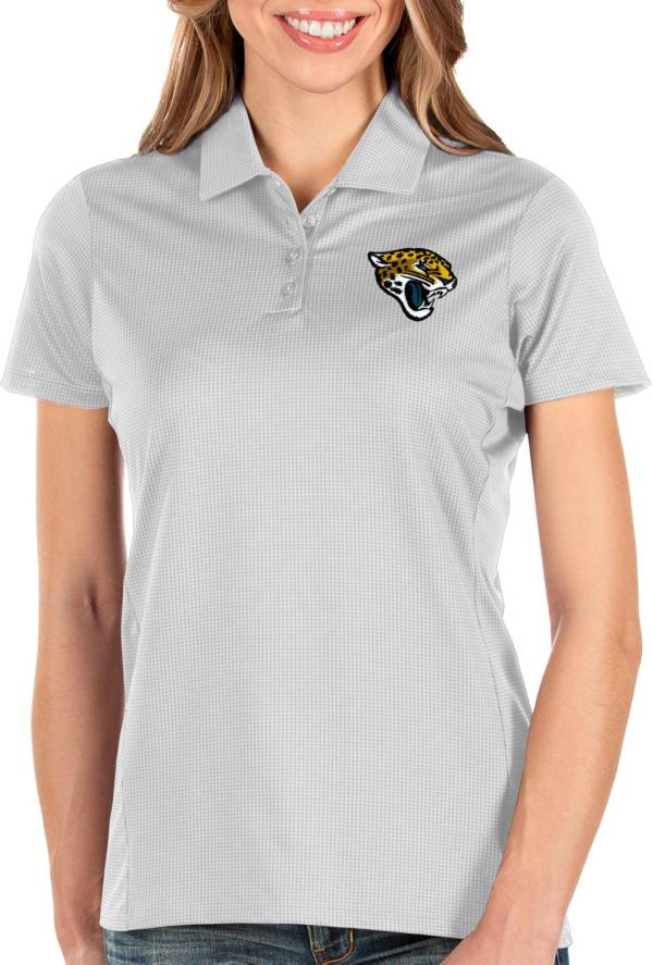 Antigua Women's Jacksonville Jaguars Balance White Polo product image