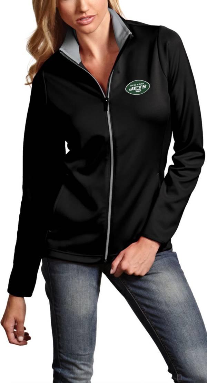 Antigua Women's New York Jets Leader Full-Zip Black Jacket product image