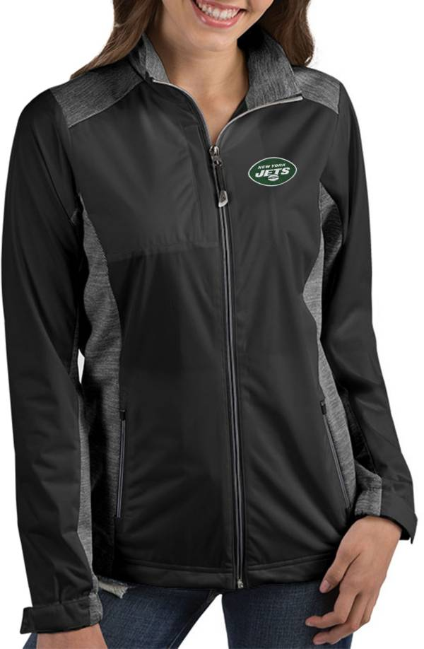Antigua Women's New York Jets Revolve Black Full-Zip Jacket product image
