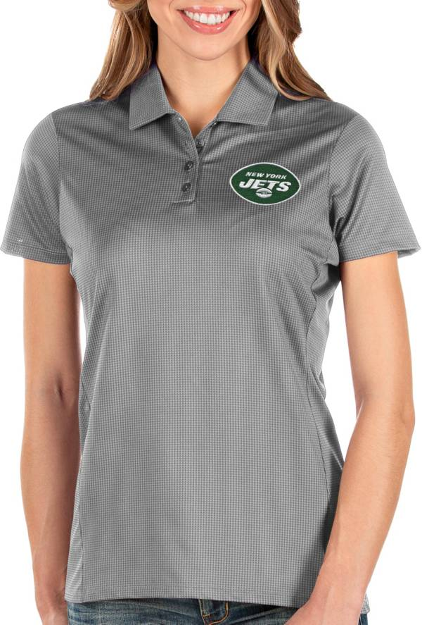 Antigua Women's New York Jets Balance Grey Polo product image