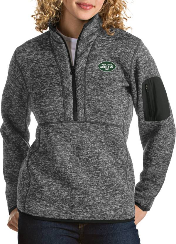 Antigua Women's New York Jets Fortune Smoke Pullover Jacket product image