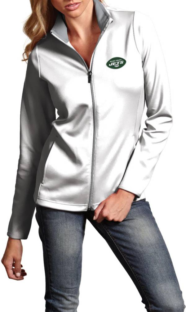 Antigua Women's New York Jets Leader Full-Zip White Jacket product image