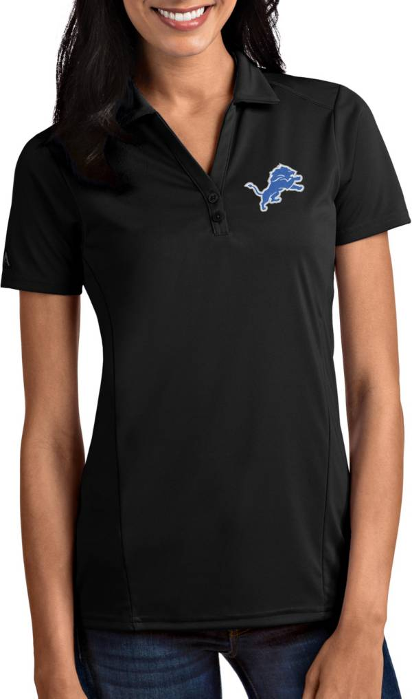 Antigua Women's Detroit Lions Tribute Black Polo product image