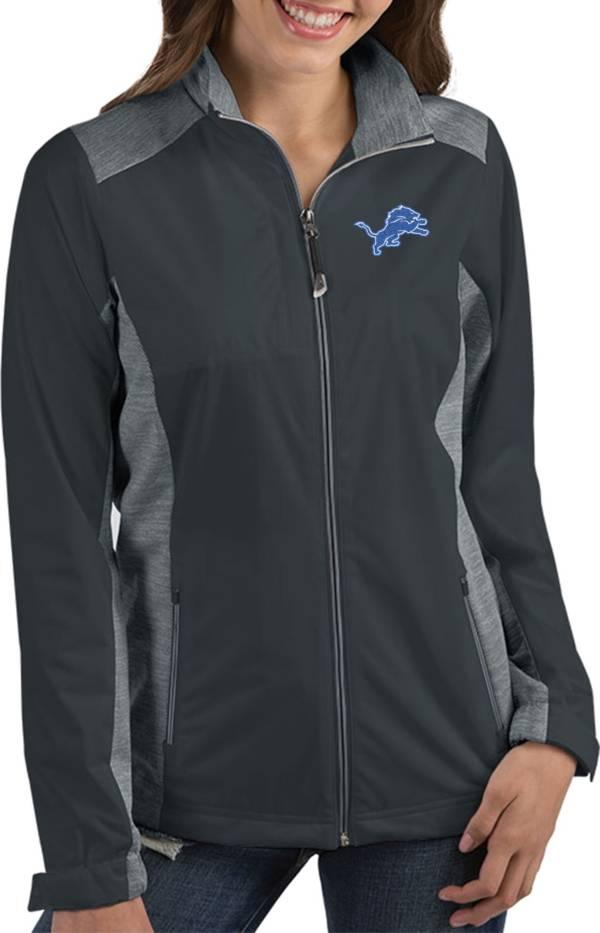 Antigua Women's Detroit Lions Revolve Charcoal Full-Zip Jacket product image