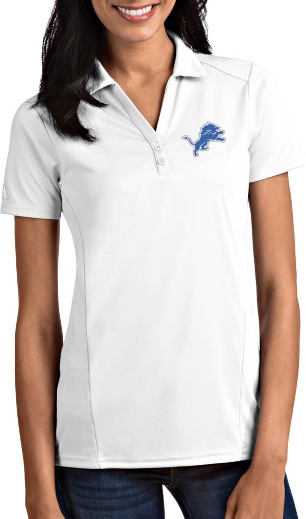 Antigua Women's Detroit Lions Tribute White Polo product image