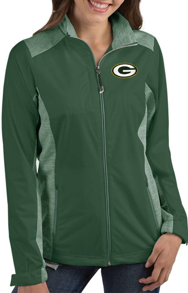 Antigua Women's Green Bay Packers Revolve Green Full-Zip Jacket product image