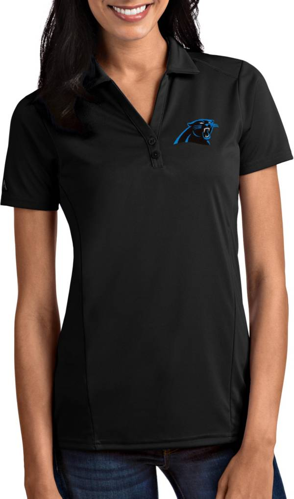 Antigua Women's Carolina Panthers Tribute Black Polo product image