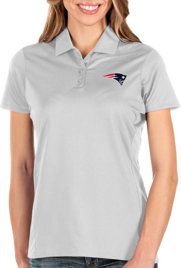 Antigua Women's New England Patriots Balance White Polo product image