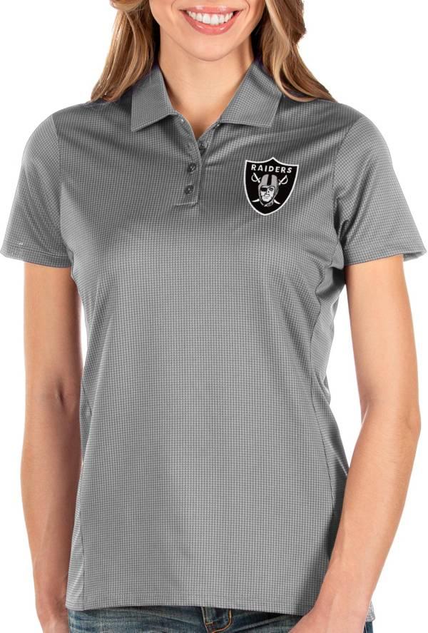 Antigua Women's Las Vegas Raiders Balance Grey Polo product image