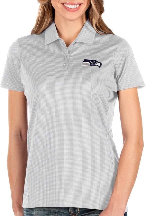 Antigua Women's Seattle Seahawks Balance White Polo product image