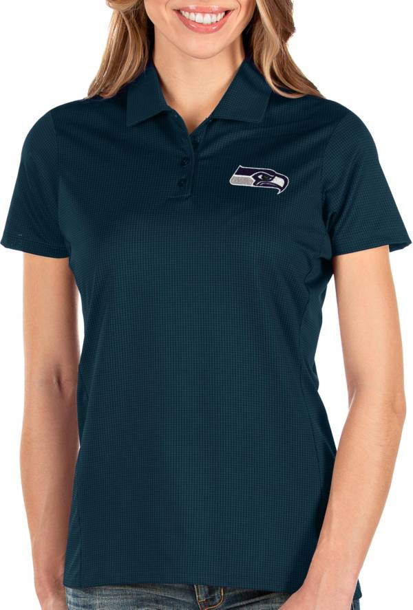 Antigua Women's Seattle Seahawks Balance Navy Polo product image
