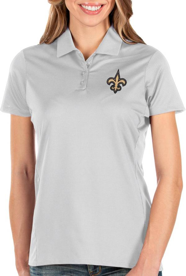 Antigua Women's New Orleans Saints Balance White Polo product image