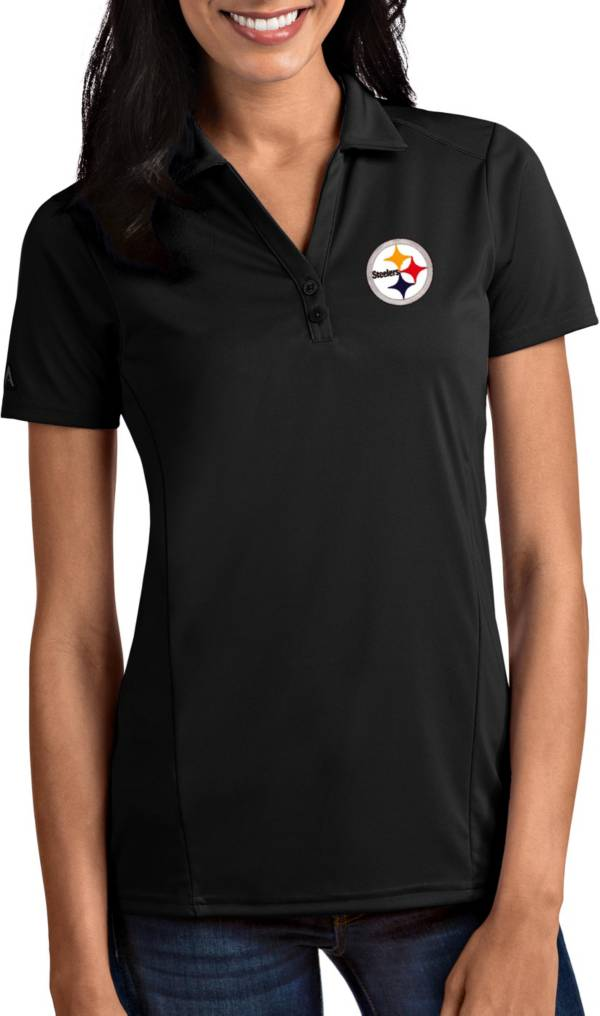 Antigua Women's Pittsburgh Steelers Tribute Black Polo product image