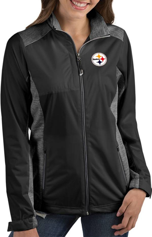 Antigua Women's Pittsburgh Steelers Revolve Black Full-Zip Jacket product image