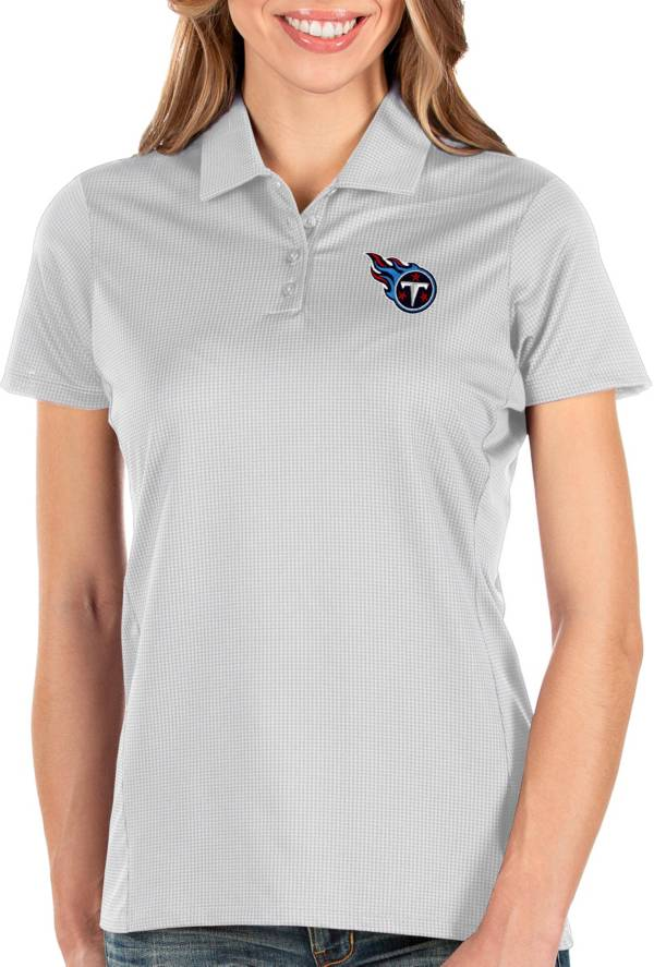 Antigua Women's Tennessee Titans Balance White Polo product image