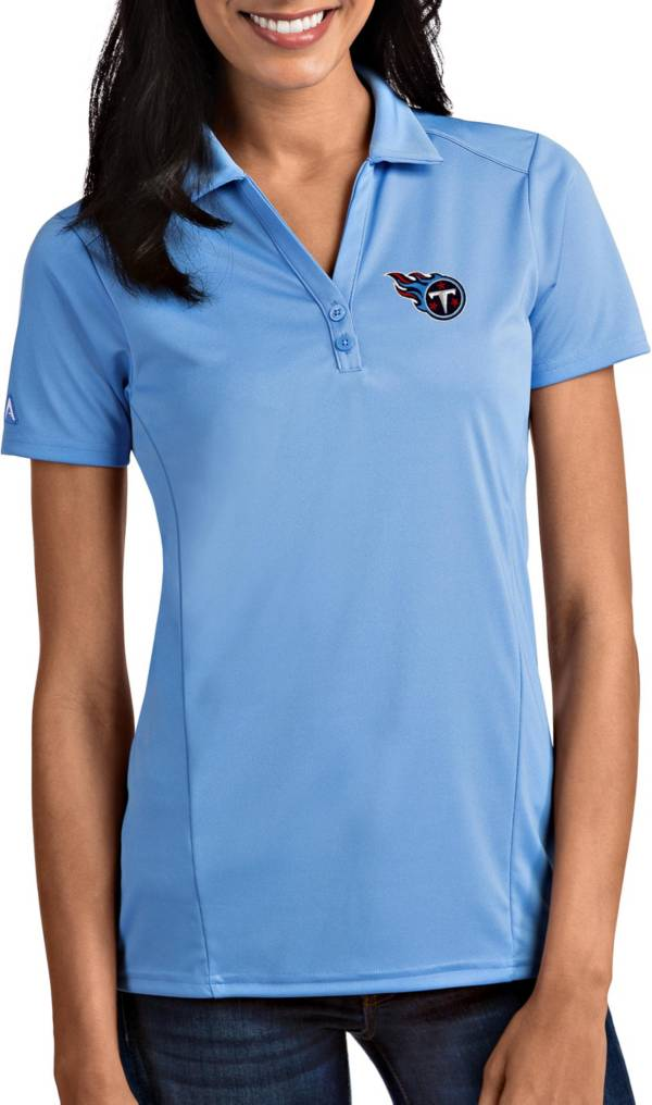 Antigua Women's Tennessee Titans Tribute Blue Polo product image
