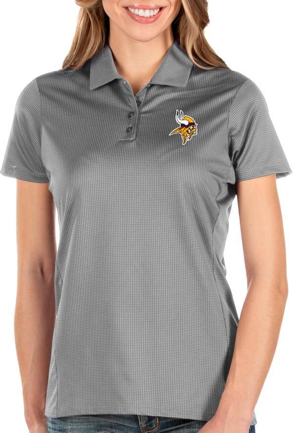 Antigua Women's Minnesota Vikings Balance Grey Polo product image