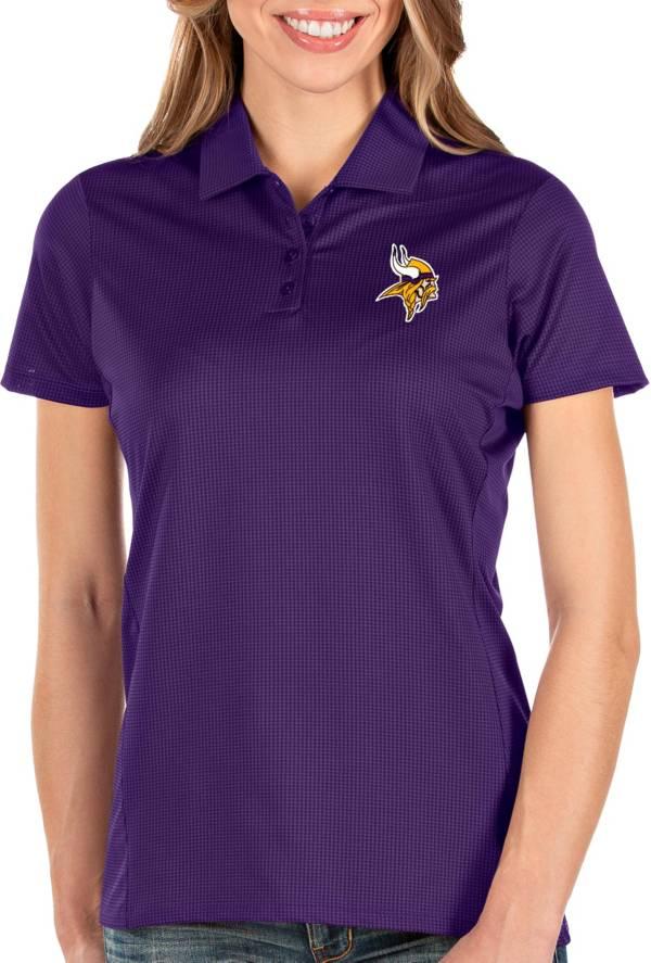 Antigua Women's Minnesota Vikings Balance Purple Polo product image