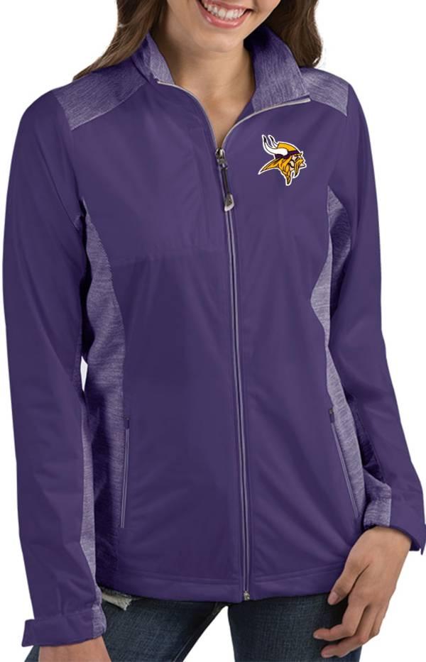 Antigua Women's Minnesota Vikings Revolve Purple Full-Zip Jacket product image