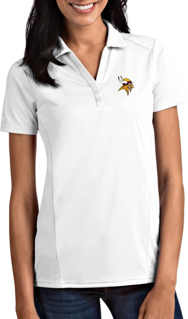 Antigua Women's Minnesota Vikings Tribute White Polo product image