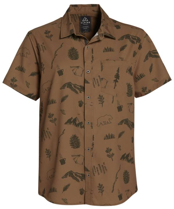 Alpine Design Men's Cascade Woven Elements Collared T-Shirt product image
