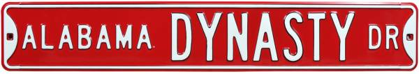 Authentic Street Signs Alabama Crimson Tide Dynasty Street Sign product image