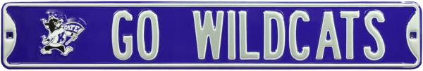 Authentic Street Signs Kansas State Wildcats Go Wildcats! Street Sign product image