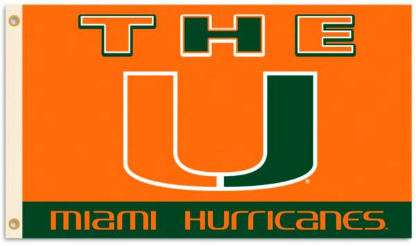 Flagpole-To-Go Miami Hurricanes 3' X 5' Flag product image