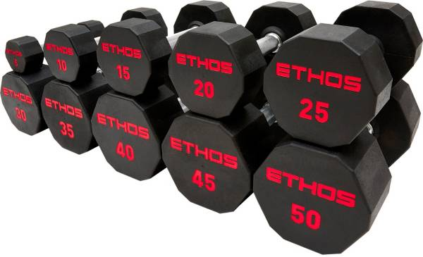 ETHOS Rubber Hex Dumbbell | Free Curbside Pickup at DICK'S