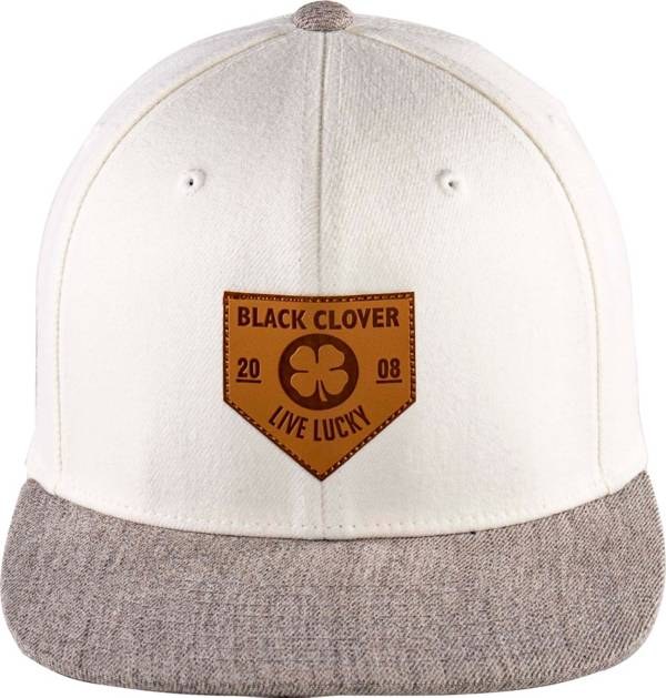 Black Clover + Rawlings Leather Patch Flat Brim Hat product image