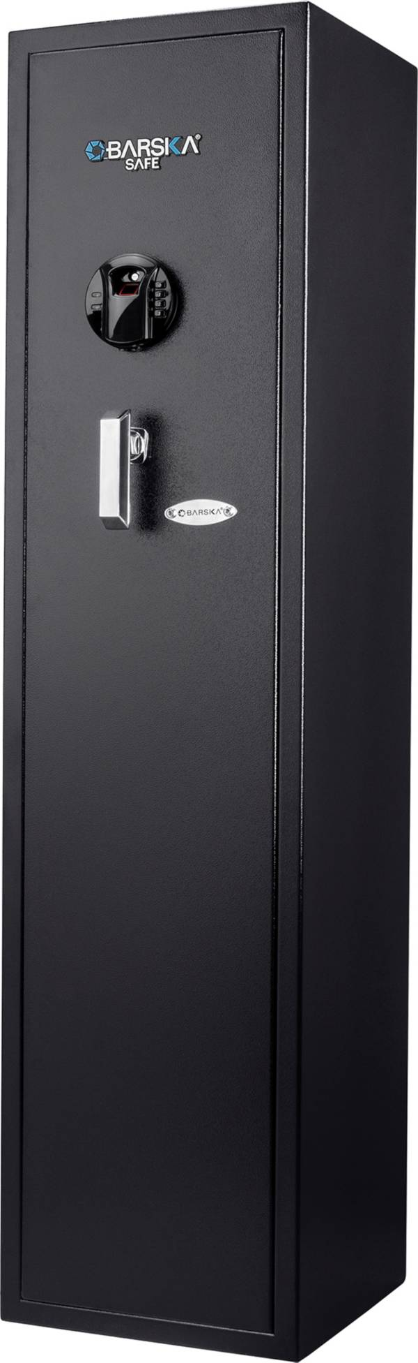 Barska HQ900 Large Quick Access 5-Gun Rifle Safe with Biometric Keypad Lock product image