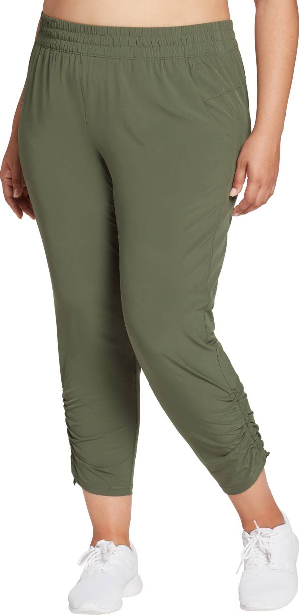 CALIA by Carrie Underwood Women's Plus Size Journey Ruched Cropped Pants product image