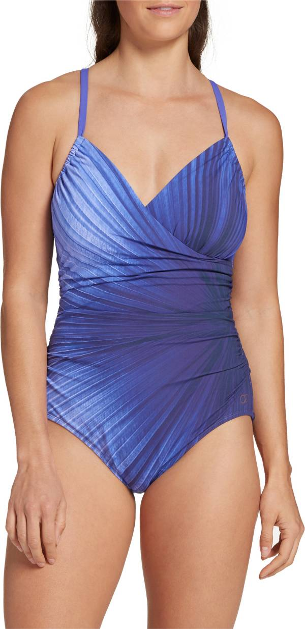 CALIA by Carrie Underwood Women's Ruched Printed One Piece Swimsuit product image