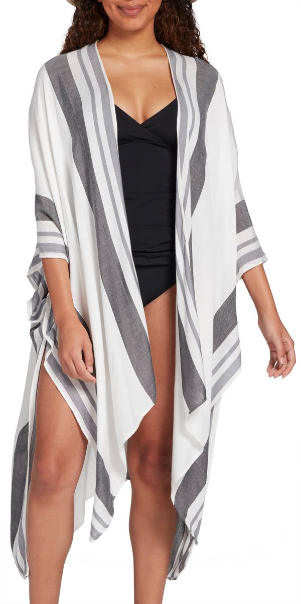 CALIA by Carrie Underwood Women's Striped Swim Wrap product image