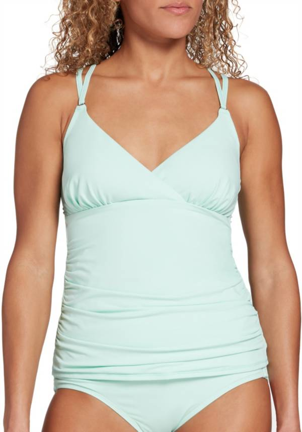 CALIA by Carrie Underwood Women's Strappy Ruched Tankini Top product image