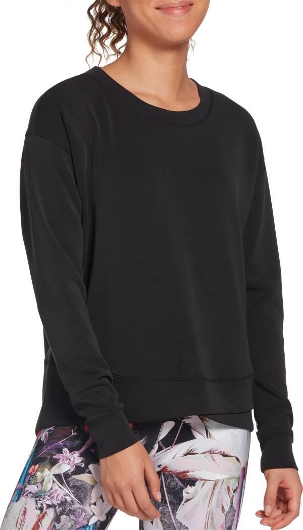 CALIA by Carrie Underwood Women's Cupro Overlap Hem Crewneck Sweatshirt (Regular and Plus) product image