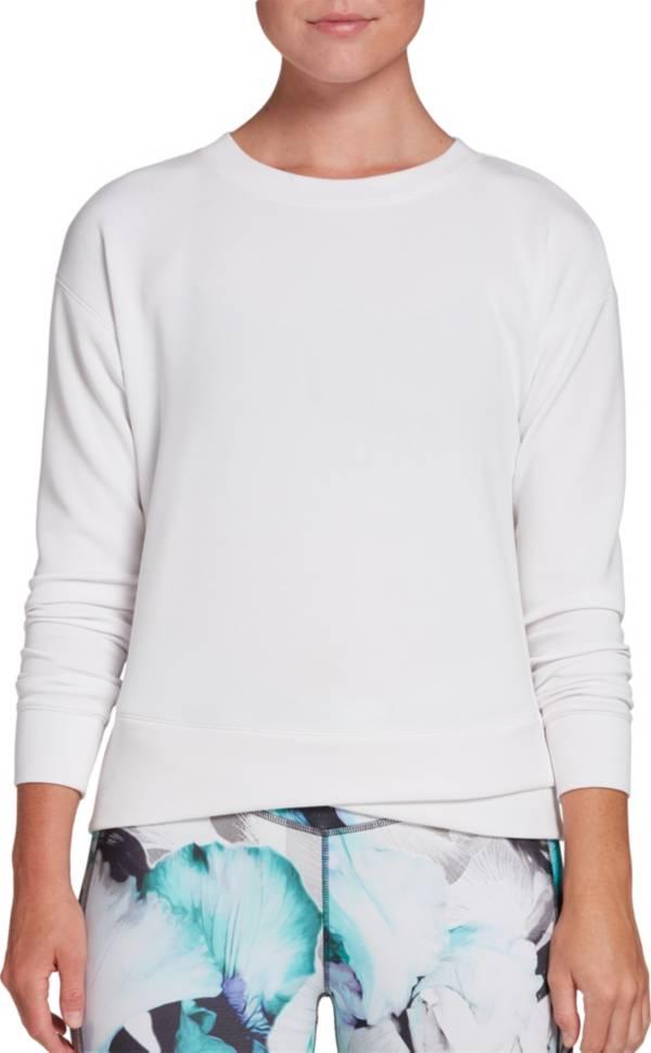 CALIA by Carrie Underwood Women's Cupro Overlap Hem Crewneck Sweatshirt product image
