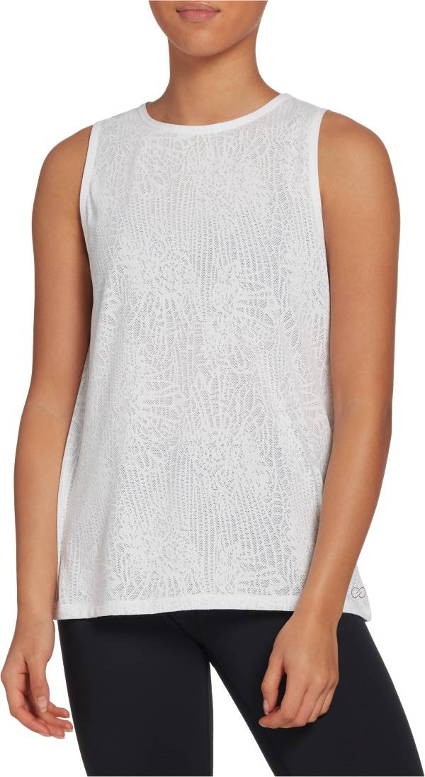 CALIA by Carrie Underwood Women's Lace Keyhole Muscle Tank Top product image