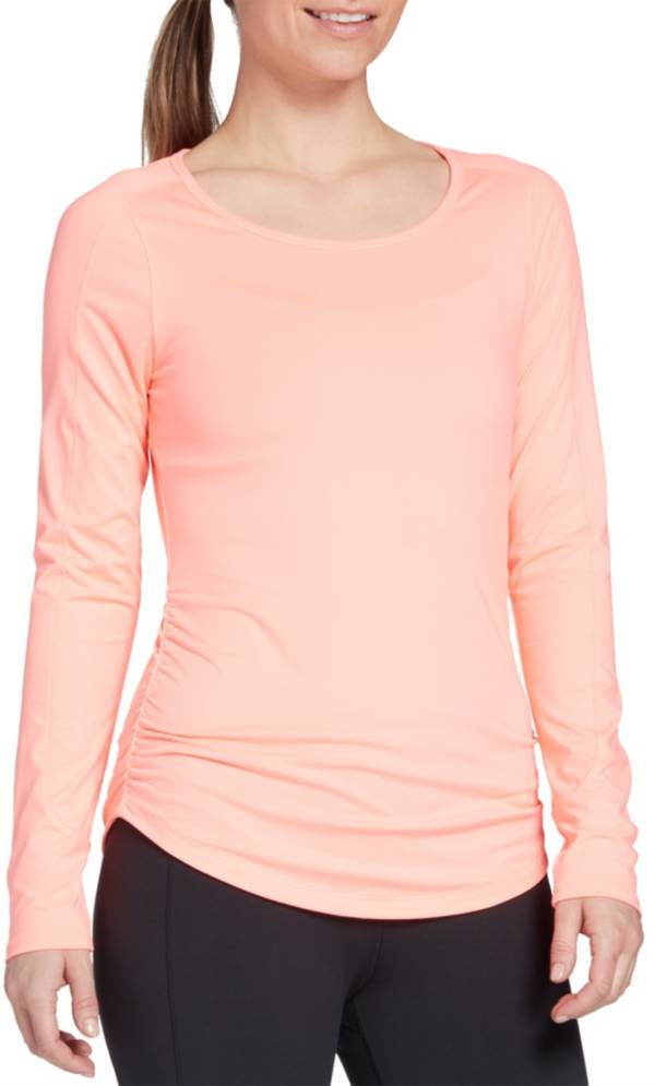 CALIA by Carrie Underwood Women's Flow Open Back Ruched Long Sleeve Shirt product image