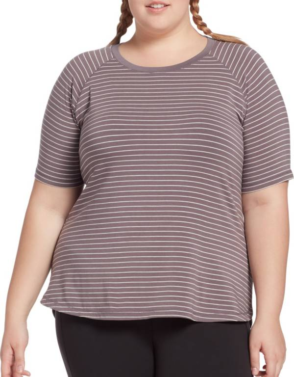CALIA by Carrie Underwood Women's Plus Size Everyday Striped T-Shirt product image