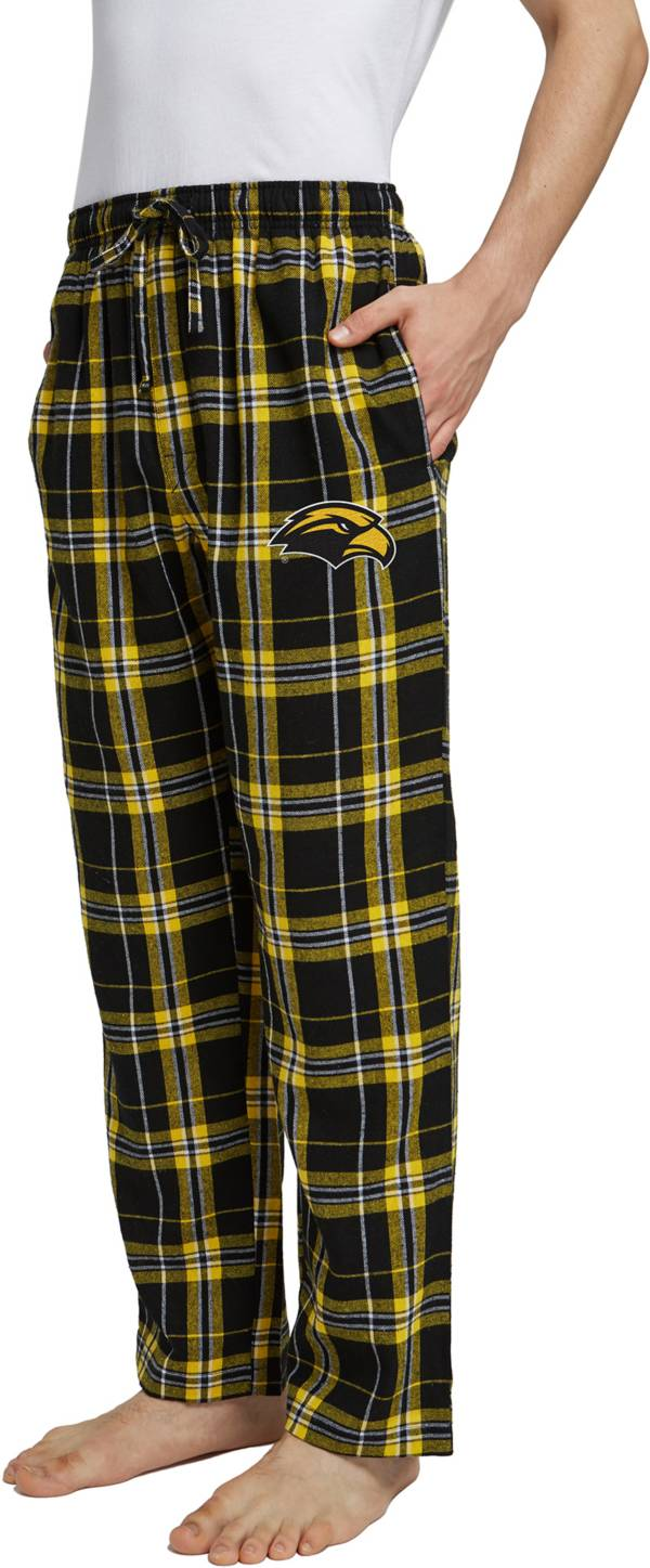 Concepts Sport Men's Southern Miss Golden Eagles Black/Gold Hillstone Flannel Sleep Pants product image